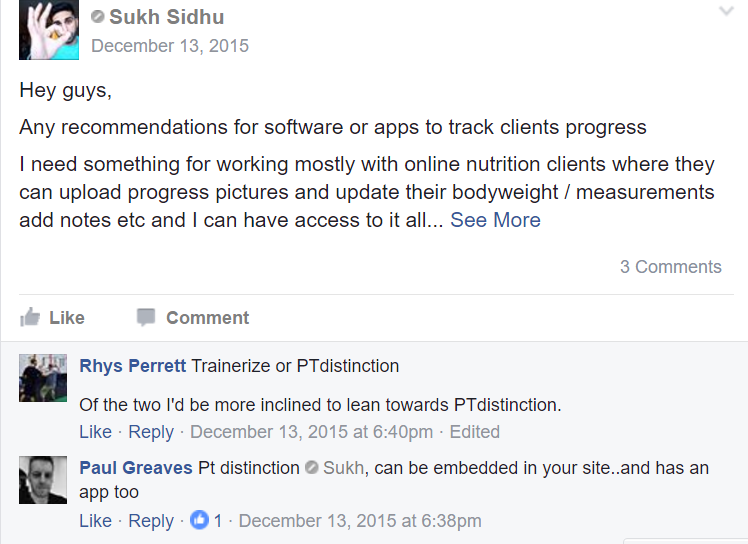 PT Distinction online personal training software testimonial review 13