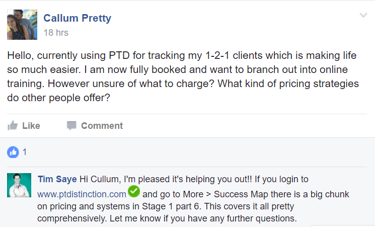 PT Distinction online personal training software testimonial review 24