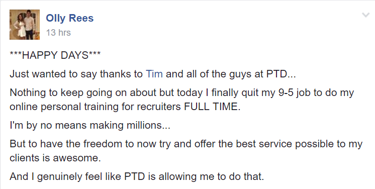 PT Distinction online personal training software testimonial review 4